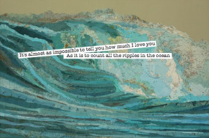 cute, ocean, quote, typography