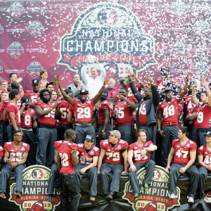 ... Florida State celebrate its national championship on campus Saturday