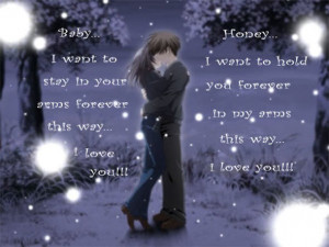 Cute Couple Anime Quote - anime-quote, anime-cute-couple