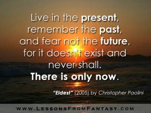 Eldest by Christopher Paolini. If only I could take this advice.