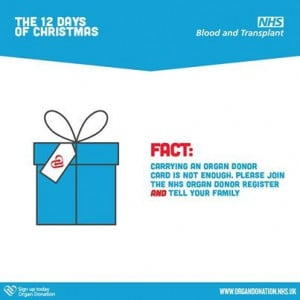 ... organ donation but it is vital you tell them, that if you can, you