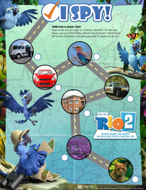 Win Rio 2 on Blu-ray DVD + Enjoy Rio 2 Activity Sheets and Coloring ...