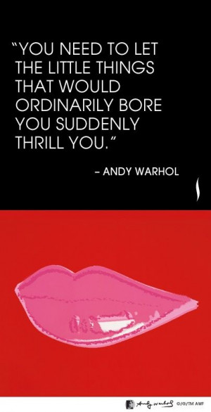 The Andy Warhol quote, #OrdinaryMoment hashtag on Twitter https ...