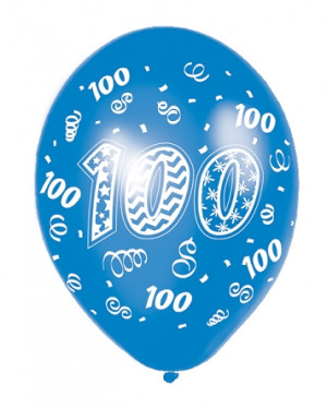100th Birthday Latex Balloons 11