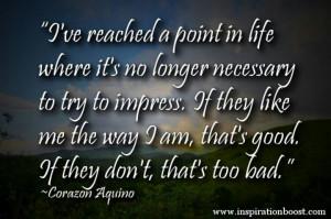Impressing Quotes