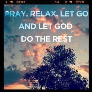 Let God do the rest…