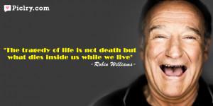 robin williams death quote picture