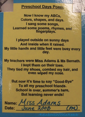 preschool poems