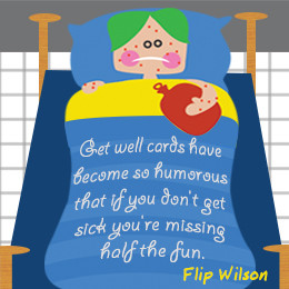 Flip Wilson on get well cards