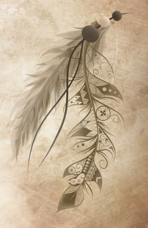 Bohemian Feather Art Print by LouJah