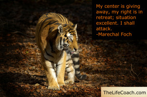 ... center is giving way, my right is in retreat; situation excellent