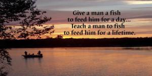 Teach a man to fish, eh?