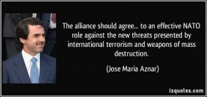 The alliance should agree... to an effective NATO role against the new ...