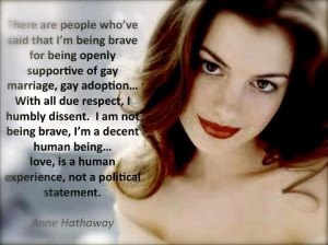 Anne Hathaway's Super-Shareable Quote On Gay Rights