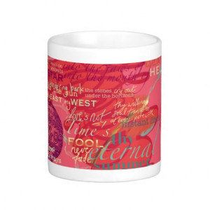 Shakespeare Love Poetry Quotes Mug Pink