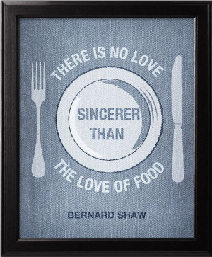 Love of food George Bernard Shaw quote by DenimPoster on Etsy, $15.00