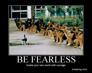 Motivational wallpaper on Fear : Face Your Fears