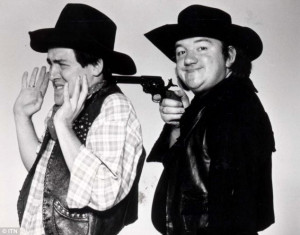 ... Mel Smith with Griff Rhys Jones in their 1985 series Alas Smith and