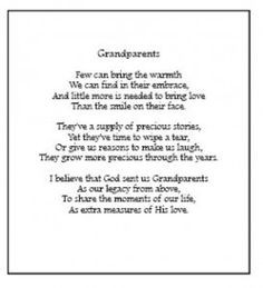 ... Sayings For Grandparents – Verses For Cards Wishes Poems Quotes