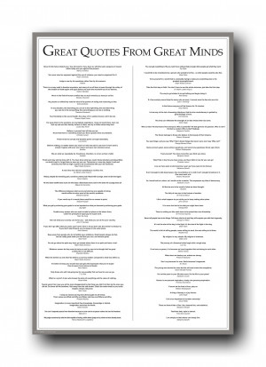 Details about Great Quotes From Great Minds 24X36 Poster 4847