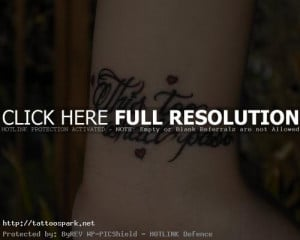 Back to Post :Wrist Tattoos Quotes Inspiration