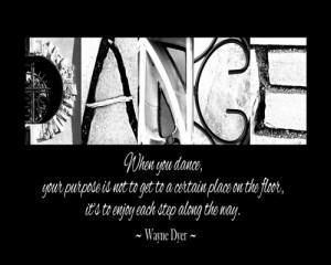 Dance Quotes, Dance Teacher Appreciation Gift - Alphabet Letter Art ...
