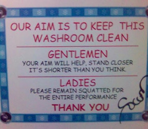 No manners Toilet signboard