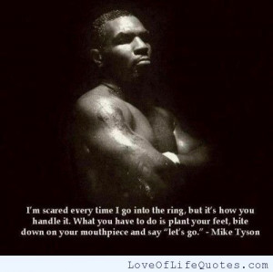 Mike Tyson quote on being scared