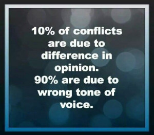 Wrong tone of voice