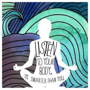 Listen to your body #yoga#practice