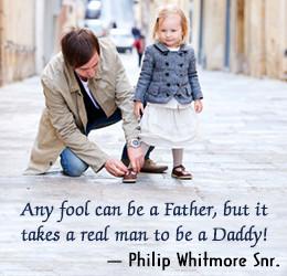 Philip Whitmore Snr. on fatherhood