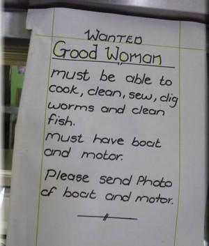Fun Quotes Wanted Good Woman