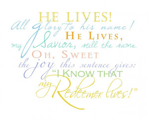 LDS Easter word art - colored