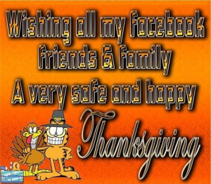 Happy Thanksgiving Facebook friends