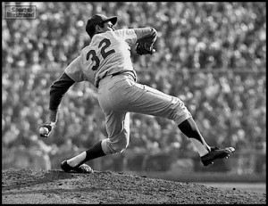 Sandy Koufax was one of the best pitchers of all time, of all time ...
