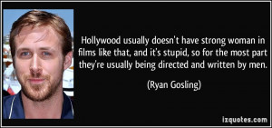 Hollywood Usually Doesn...