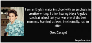 am an English major in school with an emphasis in creative writing ...