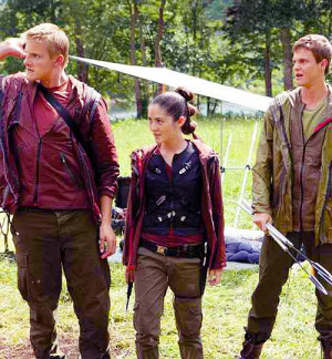 Marvel distracted by Rue's fire along with Cato and Clove.