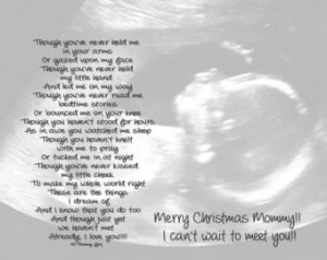 ... for Expecting Dad or Mom from unborn child Personalized Poetry Print