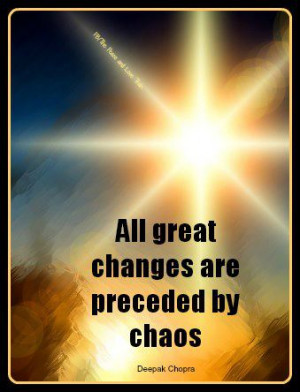 Change Out of Chaos » Change & Chaos quote