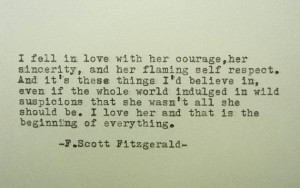 LOve Quote Love Poem F Scott Fitzgerald Quote Hand Typed Quote ...