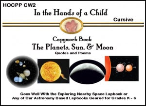 The Planets, Sun, & Moon Quotes and Poems Copywork-Cursive Ebook
