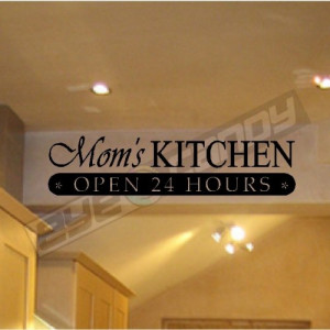 Moms Kitchen...Wall Quotes Sayings Words Lettering