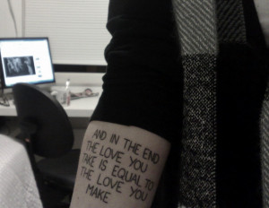 ... # while my guitar gently weeps # beatles # tattoo photo 31 notes