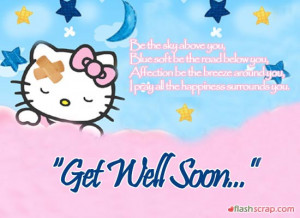 Get Well Soon Orkut Scraps and Get Well Soon Facebook Wall Greetings
