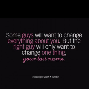 Wait for the right guy!