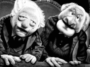 The Muppets Statler and Waldorf