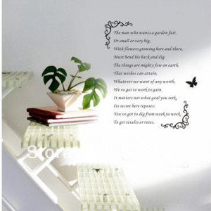 ... Quotes-Inspirational-English-Poem-Wall-Art-Sticker-Decal-Home-Decor