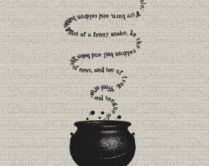 Halloween Witch Witches Chant Shake speare Macbeth Printable Digital ...