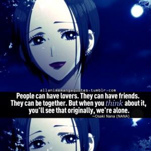 Nana Quotes Nana osaki quote manga anime